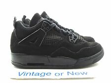 Nike Air Jordan IV 4 Black Cat Retro GS 2006 sz 3.5Y