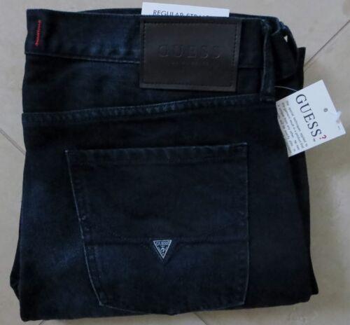 Guess Straight Leg Jeans Men/'s Size 30 X 30 Vintage Distressed Dark Wash