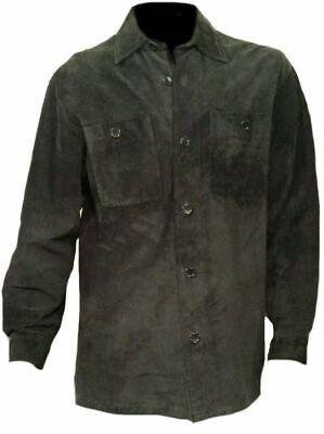 Camicia Da Uomo Western Wear Giacca In Pelle Neri In Pelle Scamosciata Cowboy Nativi Americani Cappotto-