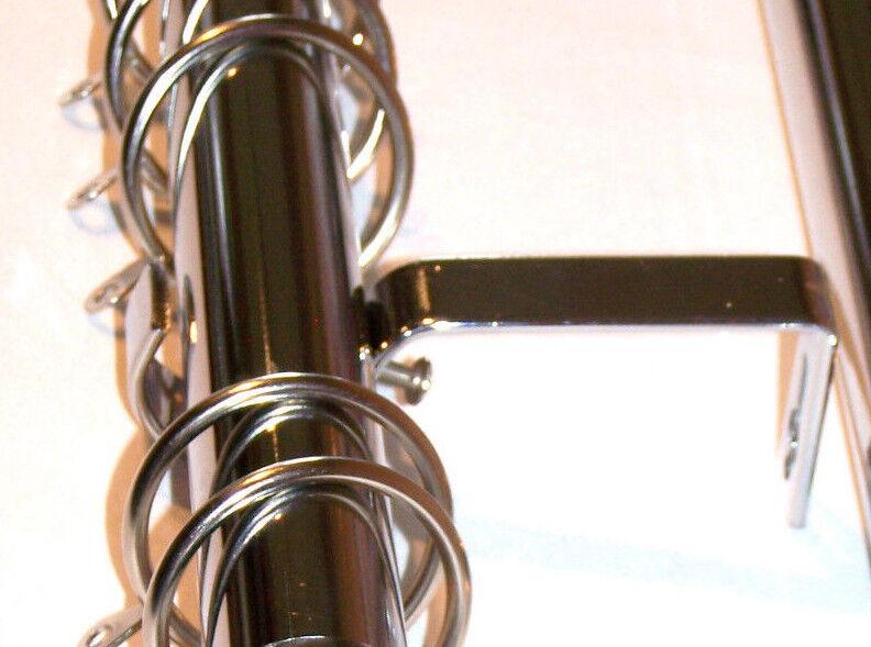 19mm CROMO Spirale bovindo Tenda Pole Sistema Spirale CROMO CURVO ornamenti 2.4m 240cm 3m ef5b70