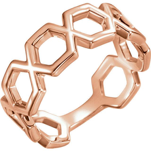 Geometric Ring In 14K pink gold
