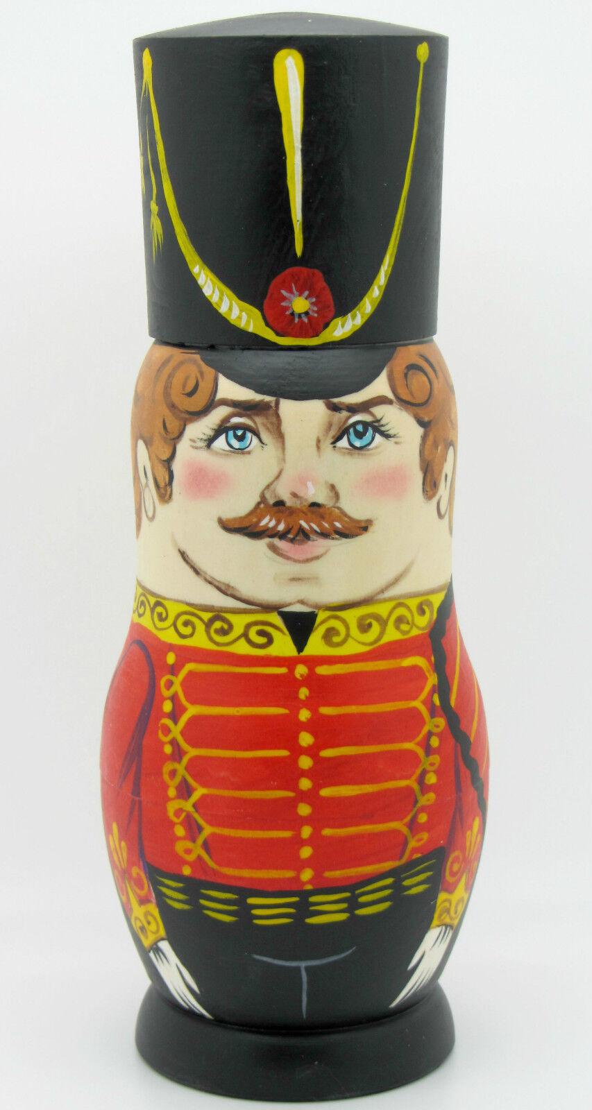 russe 5 Matryoshka poupées imbriquées gussars Hussars Soldat Soldat Soldat femmes Zenina signé 71a1c4