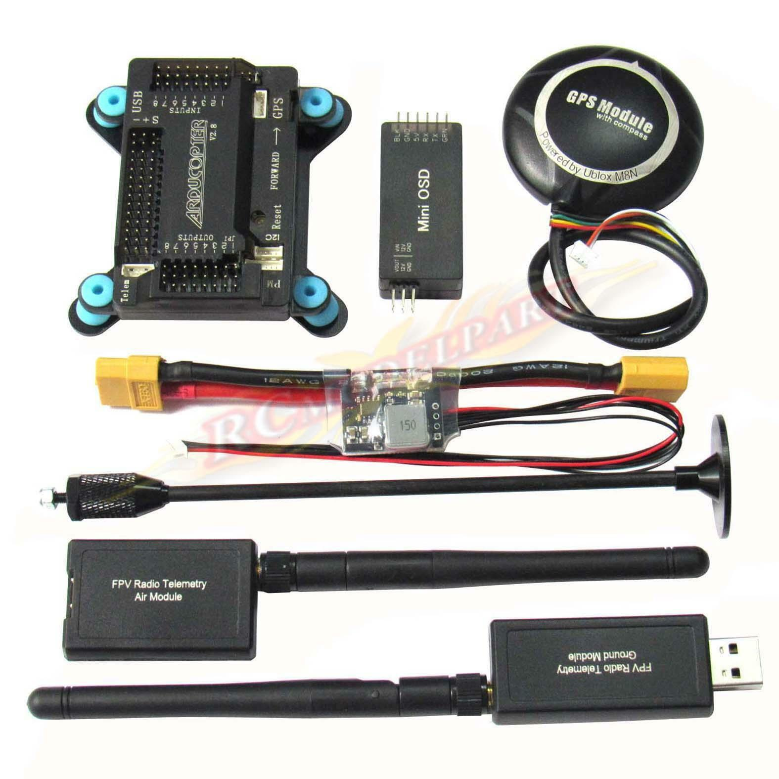 APM2.8 Flight Controller W  NEO-M8N GPS +3DR 433Mhz Telemetry +OSD &Power Module