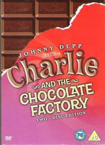 CHARLIE-AND-THE-CHOCOLATE-FACTORY-2-DISC-SPECIAL-ED-039-N-JOHNNY-DEPP-DVD-NEW