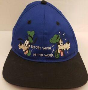 VTG Walt Disney World Goofy Snapback Hat Before After Work Mickey ... 2a8a9e07816