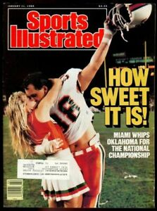 SI: Sports Illustrated January 11, 1988 Dennis Kelleher, Football, Miami, GOOD
