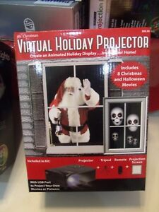 Mr Christmas Projector.Details About Mr Christmas Virtual Holiday Projector Animated Window 4 Christmas 4 Halloween