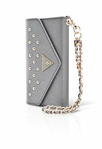 WALLET-CLUTCH-CASE-SILVER-GUESS-STUDDED-COLLECTION-IPHONE-6-6S-4-7-034-PROTECTION