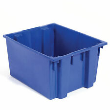 Stack And Nest Shipping Container No Lid 23 12x19 12x10 Blue Lot Of 3