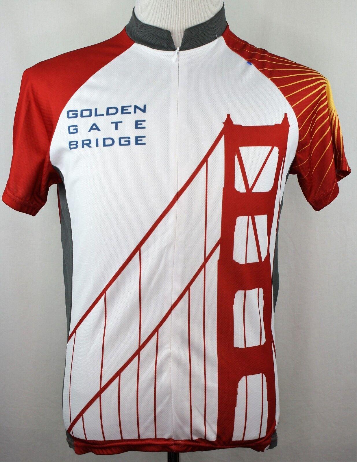 goldEN GATE BRIDGE Men XL Cycling Jersey 75th Anniversary 1937-2012 golden Gate