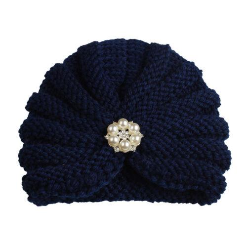 Winter Warm Newborn Toddler Kids Baby Boys Girls Turban Knitted Beanies Hat Caps