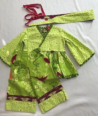 Pants 3-4YO Jelly The Pug Lime Dress ,4 Headband Toddlers,Girls Size:2T 2YO