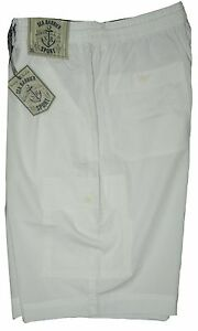 Bermuda-uomo-Taglia-M-L-XL-XXL-3XL-pantalone-corto-tasconi-bianco-SEA-BARRIER