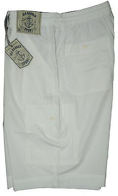 Bello Bermuda Uomo Taglia M L Xl Xxl 3xl Pantalone Corto Tasconi Bianco Sea Barrier Bianco Puro E Traslucido