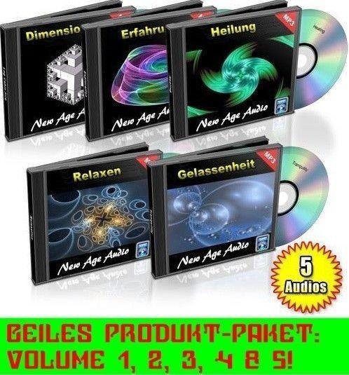 NEW AGE CD Audio-pacchetto vol. 1-5 sintetiche Relax Top musica chill out NUOVO