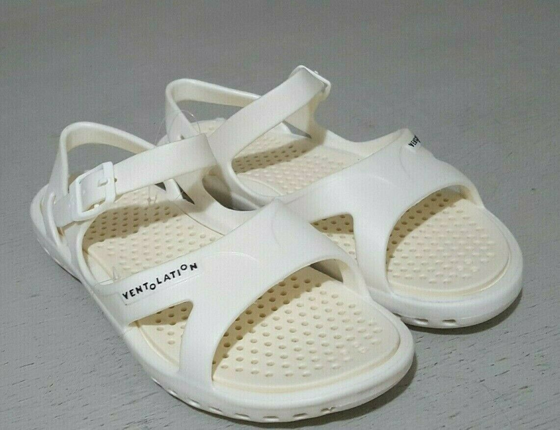 Ventolation Women's Sandals Santorini Off White Cream Beach Wedding Size 8 NEW