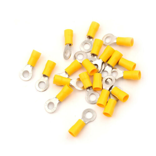 20PCS M6 Ring Insulated Wire Connector Electrical Crimp Terminal 12-10AWG ODBB