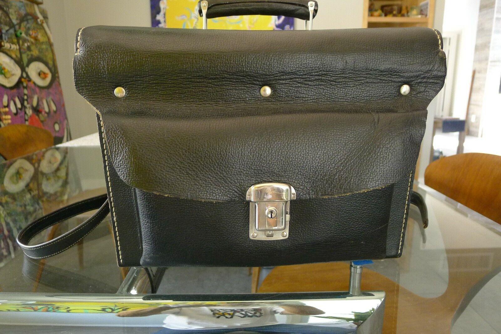Hasselblad Black Leather Case 518 Press/Reporter Holds Cameras Lenses Backs