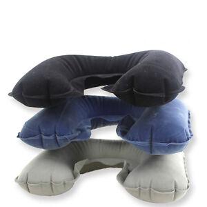 Portable U Shaped Plane Flight Inflatable Travel Pillow