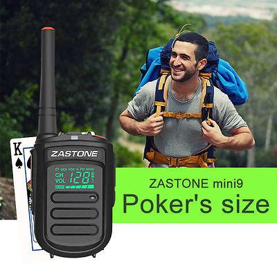 Zastone Mini9 UHF400-470mHz Portable Walkie Talkie Transceiver Two Way Ham Radio