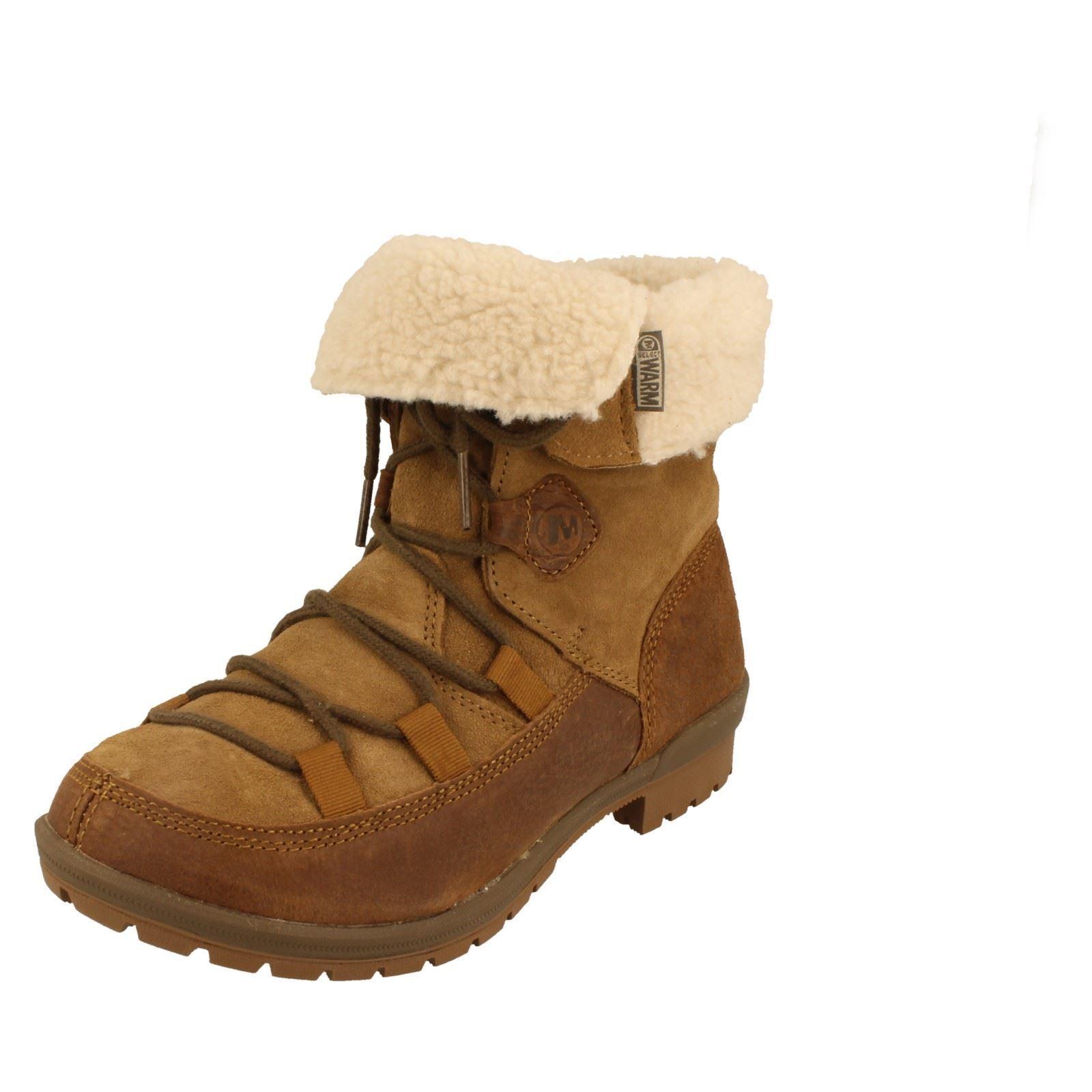 Señoras Esmeril Encaje marrón Multi Cuero botín por Merrell .00