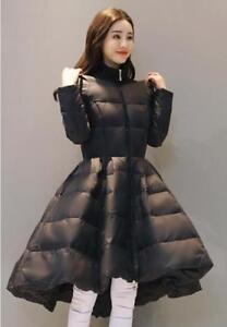 Cotton Cape Kvinder Outwear Dress Swing Jakke T166 Coat Winter A Warm Down type HxBxwda