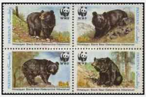 Timbres-Animaux-Ours-Pakistan-743A-D-lot-23449-cote-14