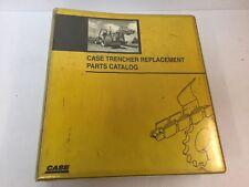 Case Trencher Parts Catalog Dealer Manual Covers Multiple Models