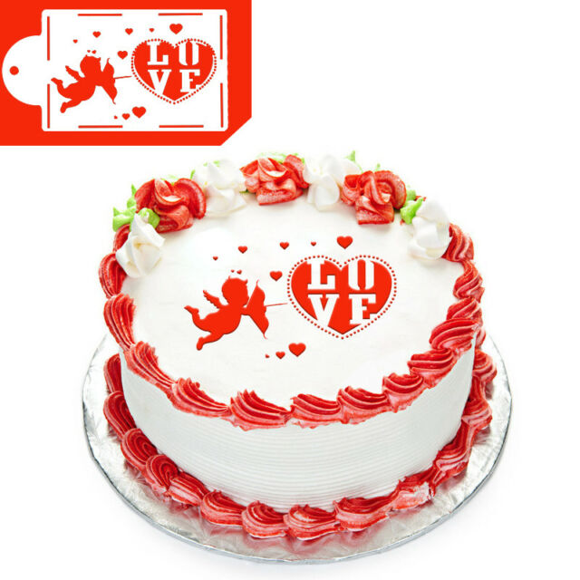 4pcs Wedding Cake Cookies Fondant Stencil Decoration Design Pattern