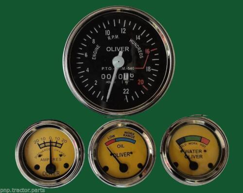 Oliver Tractor Super 55  Gauge Kit Tachometer Temp  Ampere Oil Pressure