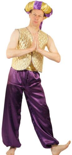 Gold Aladdin//Genie//Sultan with Doughnut Hat Fancy Dress Costume Men/'s SML-XXXXL