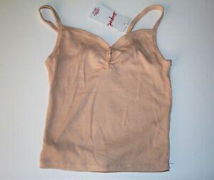 SUPRE-Brand-Pearl-Pink-Gigi-Rib-Button-Up-Cami-Top-Size-XS-BNWT-TU93