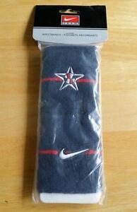 "VERY RARE 2008 Bejing Olympics Nike ""Team USA"" Wide Basketball Wristbands - Blue"