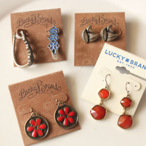 New-4Pairs-Lucky-Brand-Drop-Earrings-Gift-Vintage-Women-Party-Holiday-Jewelry-FS
