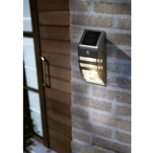 LED-Wandlampe-Aussenleuchte-Hausbeleuchtung-Edelstahl-mit-Bewegungsmelder
