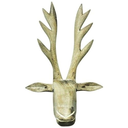 Wooden Moose Head Wall Decoration from i.ebayimg.com