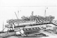 TOFUA Union SS Co HMNZT 28 at Nelson NZ WW1 modern digital Photo Postcard