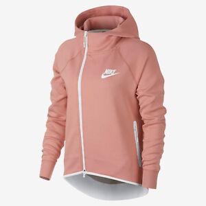 Details zu Nike Sportkleidung Tech Fleece Damen Full Zip Umhang  Kapuzenpulli M Rosa Neu