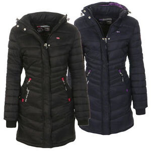 Details about Geographical Norway Women's Winter Jacket Coat Padded Winter Jacket Parka Long