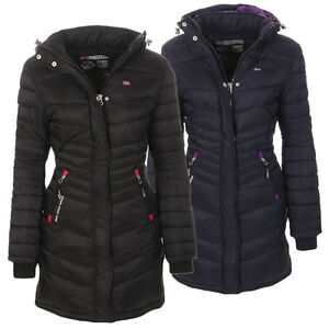 Details zu Geographical Norway Damen Winter Jacke Mantel gefüttert Winterjacke Parka lang .