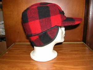 Image is loading VINTAGE-034-WOOLWORTH-034-RED-PLAID-WINTER-HAT c29f051f01a