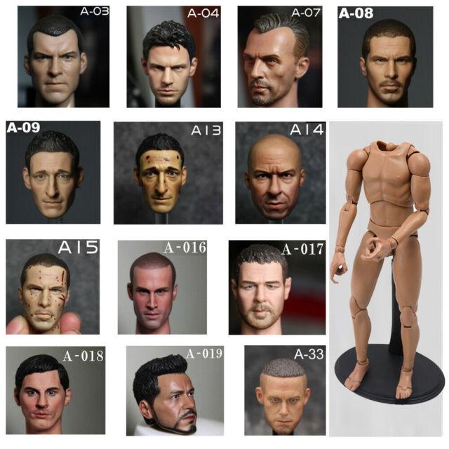 """1//6 Scale jean-claude van damme Head Sculpt For 12/"""" Action Figure Hot Toys"""