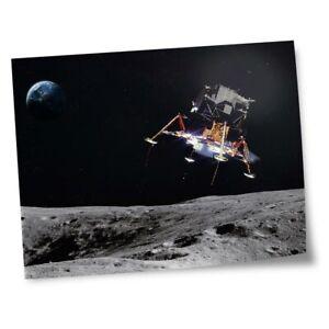 "8x10"" Prints(No frames) - Moon Landing Space Mission Craft  #45782"