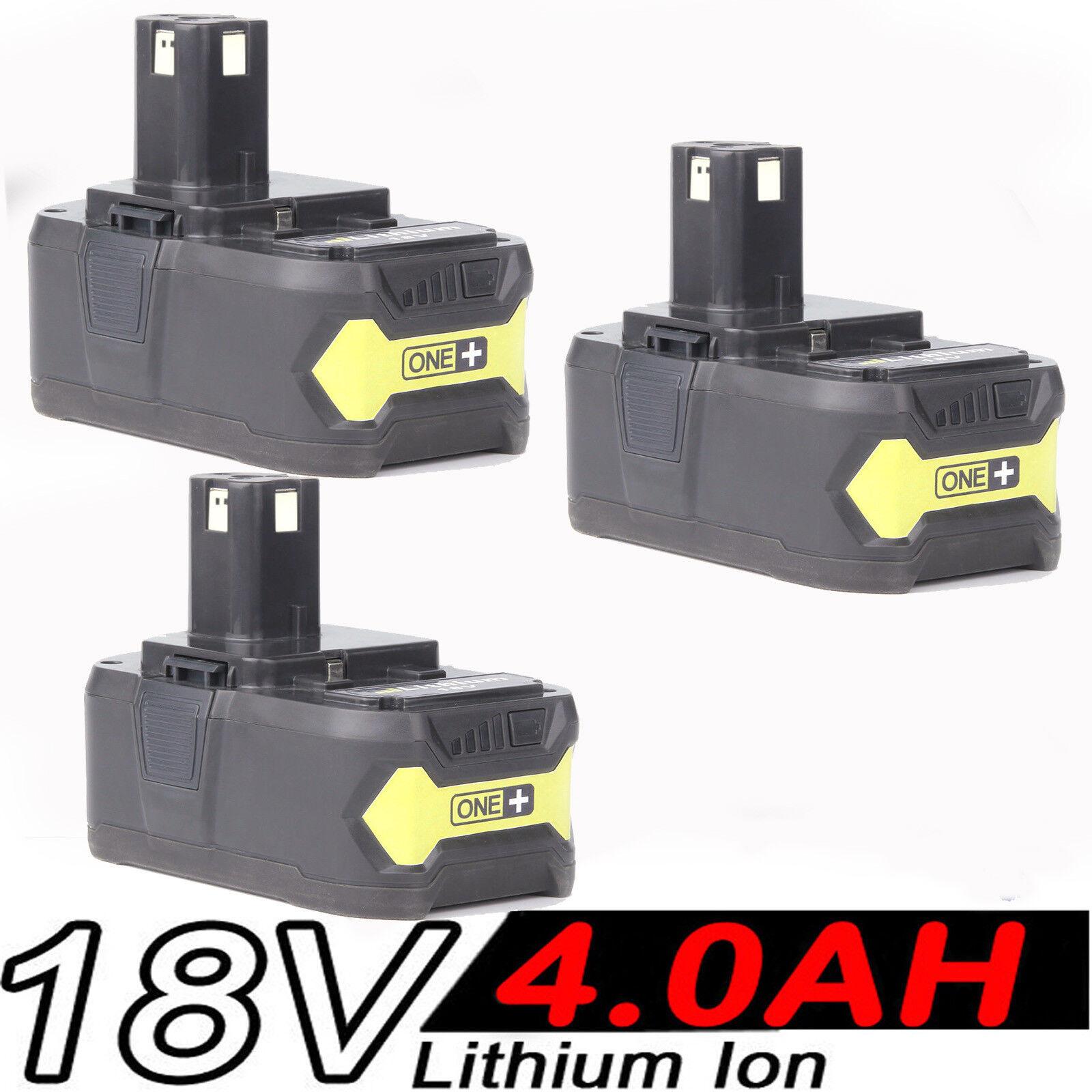 3x 4.0AH 18V Akku für RYOBI One+ RB18L25 RB18L50 P108 P107 P104 P780
