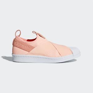 New Adidas Original Womens SUPERSTAR SLIP ON orange AQ0919 US W 5 - 8 TAKSE