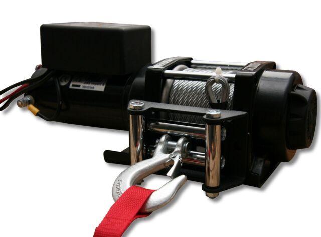 Electric ATV Quad Rope Winch 12V 4000Lbs with Radio remote control