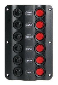 Pannello-elettrico-modello-034-Wave-034-6-interruttori-NAUTICA-BARCA-GOMMONE-QUADRO