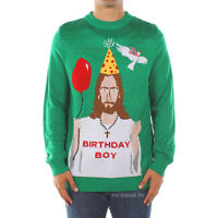 Tipsy Elves Mens Happy Birthday Jesus Ugly Christmas X-mas Holiday Sweater M