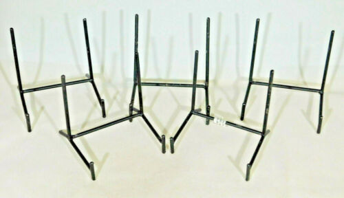 5 Lot of Five Very Sturdy Black Medium Sized Iron Easel Display Stands!