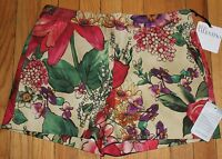 Authentic $295 Red Valentino Multi-color Floral 2-pocket Shorts Size 44eu/ 6 Us